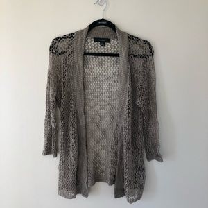 Forever 21 Mesh Knit Cardigan